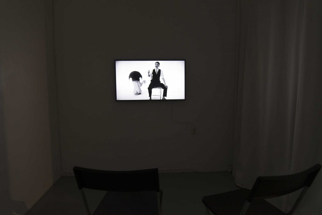 Video work on a wall, MAN - Maja Borg